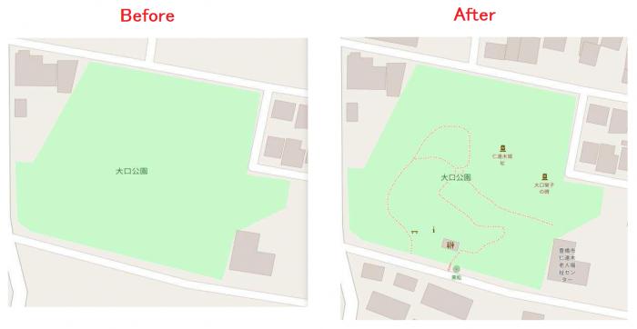 1209地図お絵描き学習会-成果-大口公園