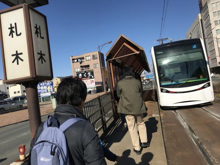 1209地図お絵描き学習会-路面電車-札木駅