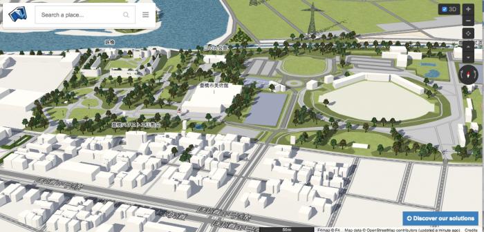 1209地図お絵描き学習会-F4map_Demo_Interactive_3D_map-豊橋公園周辺